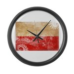 Poland Flag Large Wall Clock