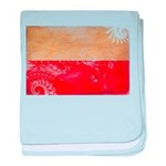 Poland Flag baby blanket