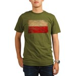 Poland Flag Organic Men's T-Shirt (dark)