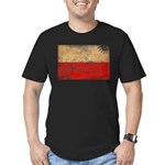 Poland Flag Men's Fitted T-Shirt (dark)