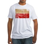 Poland Flag Fitted T-Shirt