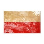 Poland Flag 22x14 Wall Peel
