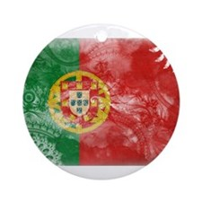 Portugal Flag Ornament (Round)