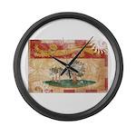 Prince Edward Islands Flag Large Wall Clock