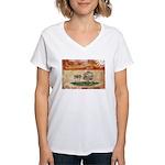 Prince Edward Islands Flag Women's V-Neck T-Shirt