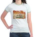 Prince Edward Islands Flag Jr. Ringer T-Shirt