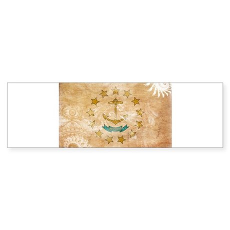 Rhode Island Flag Sticker (Bumper)