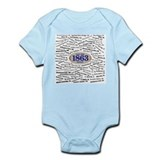 1863 Civil War Battles / Name Infant Bodysuit