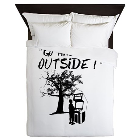 Go and Play Outside! Queen Duvet