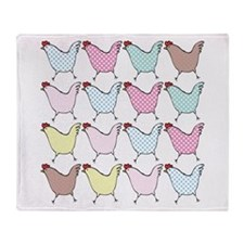 Chicken Cuties Throw Blanket