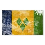 Saint Vincent Flag Sticker (Rectangle 10 pk)