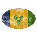 Saint Vincent Flag Sticker (Oval 10 pk)