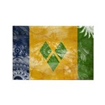 Saint Vincent Flag Rectangle Magnet (100 pack)