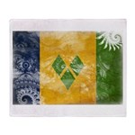 Saint Vincent Flag Throw Blanket