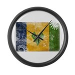 Saint Vincent Flag Large Wall Clock