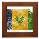 Saint Vincent Flag Framed Tile