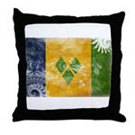 Saint Vincent Flag Throw Pillow
