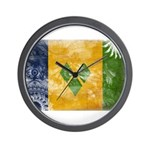 Saint Vincent Flag Wall Clock