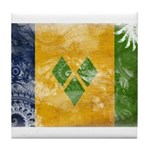Saint Vincent Flag Tile Coaster
