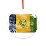 Saint Vincent Flag Ornament (Round)