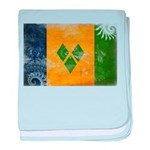 Saint Vincent Flag baby blanket