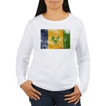 Saint Vincent Flag Women's Long Sleeve T-Shirt
