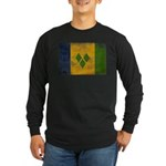 Saint Vincent Flag Long Sleeve Dark T-Shirt