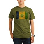 Saint Vincent Flag Organic Men's T-Shirt (dark)
