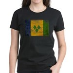 Saint Vincent Flag Women's Dark T-Shirt