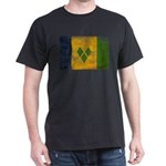 Saint Vincent Flag Dark T-Shirt