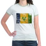 Saint Vincent Flag Jr. Ringer T-Shirt