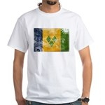 Saint Vincent Flag White T-Shirt