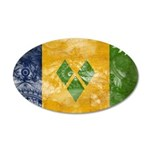 Saint Vincent Flag 22x14 Oval Wall Peel
