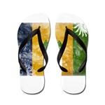 Saint Vincent Flag Flip Flops