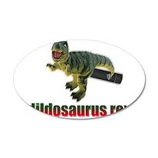 Dildosaurus Rex 22x14 Oval Wall Peel