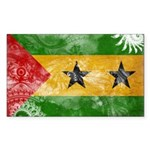 Sao Tome and Principe Flag Sticker (Rectangle 50 p