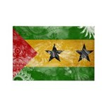 Sao Tome and Principe Flag Rectangle Magnet (100 p