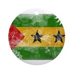 Sao Tome and Principe Flag Ornament (Round)