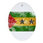 Sao Tome and Principe Flag Ornament (Oval)