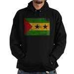 Sao Tome and Principe Flag Hoodie (dark)