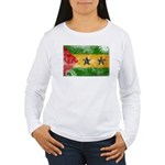 Sao Tome and Principe Flag Women's Long Sleeve T-S