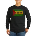 Sao Tome and Principe Flag Long Sleeve Dark T-Shir