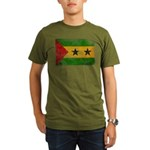Sao Tome and Principe Flag Organic Men's T-Shirt (