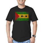 Sao Tome and Principe Flag Men's Fitted T-Shirt (d