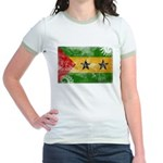 Sao Tome and Principe Flag Jr. Ringer T-Shirt