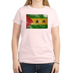 Sao Tome and Principe Flag Women's Light T-Shirt