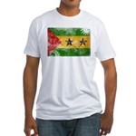 Sao Tome and Principe Flag Fitted T-Shirt