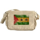 Sao Tome and Principe Flag Messenger Bag