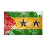 Sao Tome and Principe Flag 38.5 x 24.5 Wall Peel