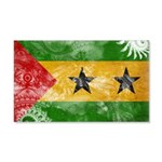 Sao Tome and Principe Flag 22x14 Wall Peel